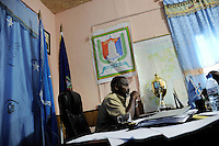Mogadishu/Somalia 2012 - The Mayor´s office. Mohamed Noor, meets with leaders of the different clans.