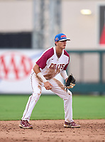 North Marion Colts shortstop Deric Fabian (23) during the 42nd Annual FACA All-Star Baseball Classic on June 6, 2021 at Joker Marchant Stadium in Lakeland, Florida.  (Mike Janes/Four Seam Images)