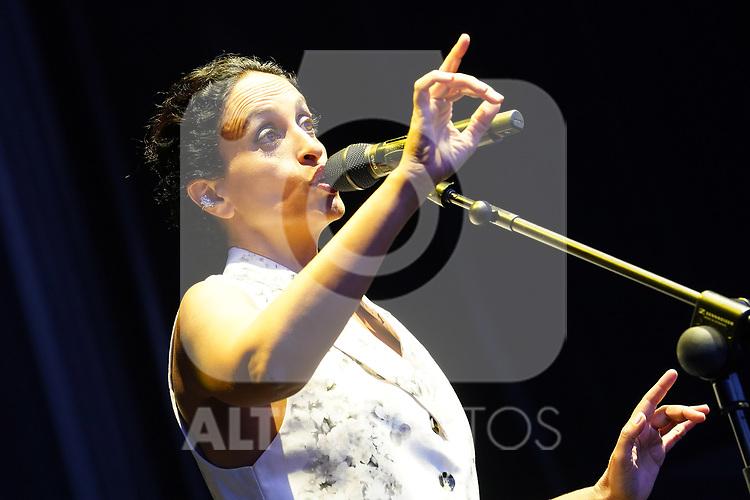 Israeli singer Noa in concert. Jazz Palacio Real. July 22,2021. (ALTERPHOTOS/Acero)