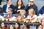 Manolo Santana, Madrid Mayor Manuela Carmena and president of the community, Cristina Cifuentes during  TPA Finals Mutua Madrid Open Tennis 2016 in Madrid, May 08, 2016. (ALTERPHOTOS/BorjaB.Hojas)
