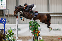 NZL-Mark Brooks rides First Class NZPH. Class 31: Land Rover Horse 1.20m-1.25m 10K - FINAL. 2021 NZL-Easter Jumping Festival presented by McIntosh Global Equestrian and Equestrian Entries. NEC Taupo. Sunday 4 April. Copyright Photo: Libby Law Photography