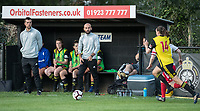 Watford Ladies Manager Armand Kavaja watches the action during the 2018/19 Pre Season Friendly match between Watford Ladies and Stevenage Ladies FC at Gaywood Park, Hempstead Road, England on 16 August 2018. Photo by Andy Rowland.