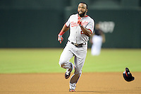 Washington Nationals outfielder Denard Span (2) runs the bases during a game against the Arizona Diamondbacks at Chase Field on September 28, 2013 in Phoenix, Arizona.  Washington defeated Arizona 2-0.  (Mike Janes/Four Seam Images)