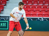 The Hague, The Netherlands, September 13, 2017,  Sportcampus , Davis Cup Netherlands - Chech Republic, Jiri Vesely (CZE)<br /> Photo: Tennisimages/Henk Koster