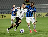 Nicolo Barella of Inter   during the  italian serie a soccer match,Spezia Inter Milan at  the STadio Picco in La Spezia Italy ,