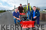 Currow Tidy Towns got a new sweeper to clean the roads on Monday l-r: Willie Reidy, John Joe Dowd, Pat Rahilly NEKDP Rural Social Scheme and Peter O'Connor