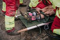 crashed out<br /> <br /> Superprestige cyclocross Hoogstraten 2019 (BEL)<br /> Women's Race<br /> <br /> ©kramon
