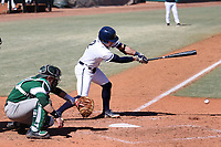 CARY, NC - FEBRUARY 23: Gavin Homer #2 of Penn State University hits the ball during a game between Wagner and Penn State at Coleman Field at USA Baseball National Training Complex on February 23, 2020 in Cary, North Carolina.
