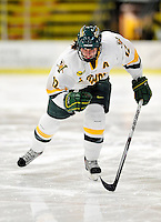 30 October 2009: University of Vermont Catamount forward Celeste Doucet, a Junior from Memramcook, New Brunswick, in action against the Northeastern University Huskies at Gutterson Fieldhouse in Burlington, Vermont. The Catamounts were shut out by the visiting Huskies 3-0. Mandatory Credit: Ed Wolfstein Photo