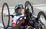 MILTON, ON, AUGUST 13, 2015. Cycling time trials, including Canadian Robert Labbe (Mixed T1-T5)
