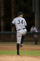 AZL White Sox relief pitcher Luke Shilling (34) delivers a pitch during an Arizona League game against the AZL Dodgers at Camelback Ranch on July 7, 2018 in Glendale, Arizona. The AZL Dodgers defeated the AZL White Sox by a score of 10-5. (Zachary Lucy/Four Seam Images)