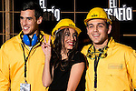 """Almudena Cid poses with Staff Workers during the premiere of the movie """"El Desafio"""" at Picasso Tower Roof in Madrid, December 10, 2015<br /> (ALTERPHOTOS/BorjaB.Hojas)"""