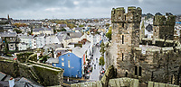 Castle Square as seen from the castle in north Wales, UK. Friday 01 November 2019