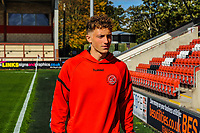 Fleetwood Town's defender Eddie Clarke (3) arriving for the Sky Bet League 1 match between Fleetwood Town and Barnsley at Highbury Stadium, Fleetwood, England on 29 September 2018. Photo by Stephen Buckley / PRiME Media Images.