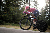 Rigoberto Uran (COL/EF) on the steep parts of the individual time trial up the infamous Planche des Belles Filles<br /> <br /> Stage 20 (ITT) from Lure to La Planche des Belles Filles (36.2km)<br /> <br /> 107th Tour de France 2020 (2.UWT)<br /> (the 'postponed edition' held in september)<br /> <br /> ©kramon