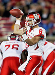 Houston Cougars quarterback David Piland (8) in action during the game between the University of Houston Cougars and the Southern Methodist Mustangs at the Gerald J. Ford Stadium in Dallas, Texas. SMU leads Houston 28 to 14 at halftime...