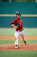 Jac Caglianone (17) of Plant High School in Tampa, FL during the Perfect Game National Showcase at Hoover Metropolitan Stadium on June 17, 2020 in Hoover, Alabama. (Mike Janes/Four Seam Images)