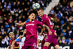 Ljubomir Fejsa (L) and Rodrigo Ely (R) of Deportivo Alaves during La Liga match between CD Leganes and Deportivo Alaves at Butarque Stadium in Leganes, Spain. February 29, 2020. (ALTERPHOTOS/A. Perez Meca)