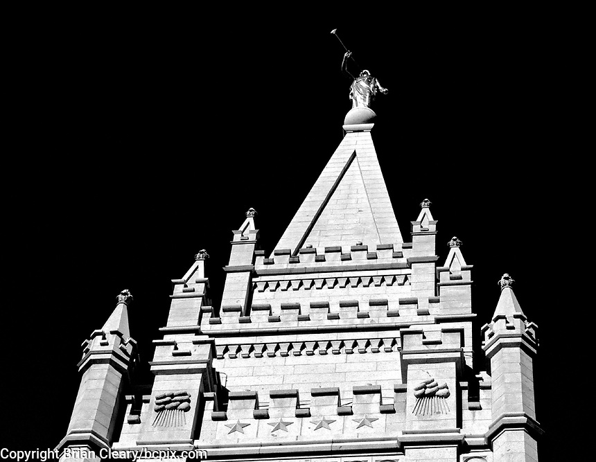 Salt Lake Temple, Temple Square,  near downtown Salt Lake City, September 2009.  (Photo by Brian Cleary/www.bcpix.com)
