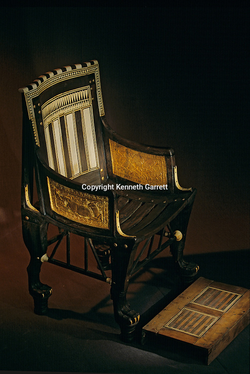 Child's chair with footrest, KV62,Tutankhamun and the Golden Age of the Pharaohs, Page 184