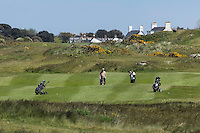 Royaume-Uni, îles Anglo-Normandes, île de Guernesey,Vale: parcours de golf entouré de tours Martello à l' Ancresse au nord de l' île - L'Ancresse Golf Club // United Kingdom, Channel Islands, Guernsey island, Vale: golf course surrounded by Martello towers in l' Ancresse in the north of the island - L'Ancresse Golf Club