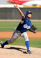 Paul Koss - Los Angeles Dodgers - 2009 spring training.Photo by:  Bill Mitchell/Four Seam Images