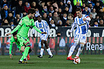 CD Leganes's Ruben Perez and Levante UD's Jose Angel Gomez Campana during La Liga match between CD Leganes and Levante UD at Butarque Stadium in Leganes, Spain. March 04, 2019. (ALTERPHOTOS/A. Perez Meca)