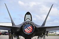 FORT LAUDERDALE FL - NOVEMBER 19: The Lockheed Martin F-35 Lightning II is seen on the tarmac during press day for the Fort Lauderdale Air Show at the Fort Lauderdale-Hollywood International Airport on November 19, 2020 in Fort Lauderdale, Florida. Credit: mpi04/MediaPunch