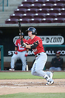 Scott Heineman (18) of the High Desert Mavericks bats against the Lake Elsinore Storm at The Diamond on April 27, 2016 in Lake Elsinore, California. High Desert defeated Lake Elsinore, 10-2. (Larry Goren/Four Seam Images)