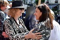 Noelle CHATELET, Anne HIDALGO - Inauguration Place Georges Moustaki - 23/5/2017 - Paris - France