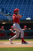 Cooper Kinney (57) of Baylor School in Chattanooga, TN playing for the Cincinnati Reds scout team during the East Coast Pro Showcase at the Hoover Met Complex on August 4, 2020 in Hoover, AL. (Brian Westerholt/Four Seam Images)