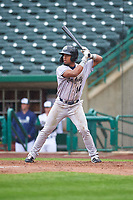 Kane County Cougars Eddie Hernandez (14) at bat during a Midwest League game against the Fort Wayne TinCaps at Parkview Field on May 1, 2019 in Fort Wayne, Indiana. Fort Wayne defeated Kane County 10-4. (Zachary Lucy/Four Seam Images)