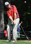 1 September 2008: Ben Curtis hits a chip shot at the Deutsche Bank Golf Championship in Norton, Massachusetts.