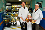 Three generations of the Courtney's at Courtney's Bakery in Dingle celebrating 50 years in business. L to r: Trevor, Eoghan and Gene Courtney