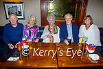 Patrick McDonagh from Tralee celebrating his 70th and 71st birthday on Friday, seated l to r: Sean O'Brien, Mairead McDonagh, Maureen Moriarty, Patrick McDonagh and May Pells.