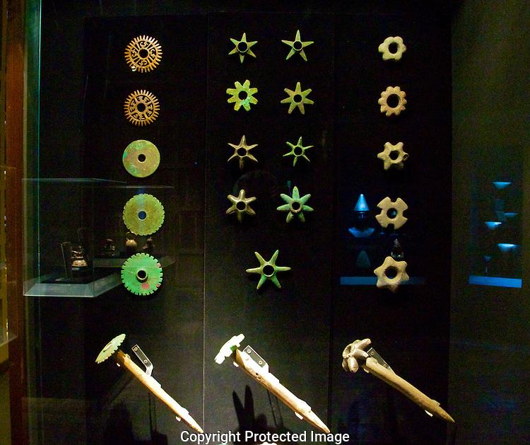 Incan weapons. Larco Museum.Lima, Peru
