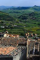 Blick von Gangi, Sizilien, Italien