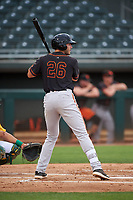 AZL Giants Black Logan Wyatt (26) at bat during an Arizona League game against the AZL Athletics Gold on July 12, 2019 at Hohokam Stadium in Mesa, Arizona. The AZL Giants Black defeated the AZL Athletics Gold 9-7. (Zachary Lucy/Four Seam Images)