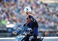 Jul 28, 2017; Sonoma, CA, USA; NHRA funny car driver John Force during qualifying for the Sonoma Nationals at Sonoma Raceway. Mandatory Credit: Mark J. Rebilas-USA TODAY Sports