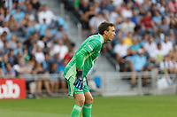 SAINT PAUL, MN - JULY 3: Tyler Miller #1 of Minnesota United FC during a game between San Jose Earthquakes and Minnesota United FC at Allianz Field on July 3, 2021 in Saint Paul, Minnesota.