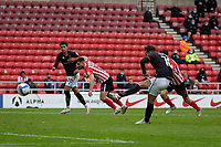 22nd May 2021; Stadium of Light, Sunderland, Tyne and Wear, England; English Football League, Playoff, Sunderland versus Lincoln City;Jorge Grant of Lincoln City, takes but misses a penalty in the 2nd half