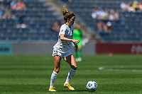 BRIDGEVIEW, IL - JUNE 5: Ryan Williams #13 of the North Carolina Courage dribbles the ball during a game between North Carolina Courage and Chicago Red Stars at SeatGeek Stadium on June 5, 2021 in Bridgeview, Illinois.
