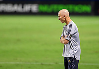 CARSON, CA - SEPTEMBER 06: Bob Bradley head coach of Los Angeles FC paces the sideline during a game between Los Angeles FC and Los Angeles Galaxy at Bank of California stadium on September 06, 2020 in Carson, California.