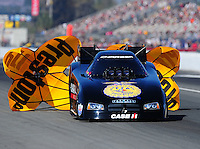 Mar. 13, 2011; Gainesville, FL, USA; NHRA funny car driver Brian Thiel during the Gatornationals at Gainesville Raceway. Mandatory Credit: Mark J. Rebilas-