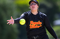 Action from the Wellington Intercity Premier 1 women's softball match between Poneke Kilbirnie and Saints at Fraser Park in Lower Hutt, New Zealand on Saturday, 14 November 2020. Photo: Dave Lintott / lintottphoto.co.nz