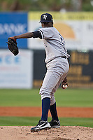 Pitcher Jose A. Ramirez #29 of the Tampa Yankees during the game against the Daytona Cubs at Jackie Robinson Ballpark on April 19, 2012 in Daytona Beach, Florida. (Scott Jontes / Four Seam Images)
