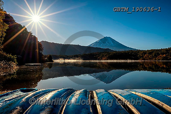 Tom Mackie, LANDSCAPES, LANDSCHAFTEN, PAISAJES, photos,+Asia, Japan, Japanese, Lake Tanuki, Mount Fuji, Tom Mackie, Worldwide, blue, boat, boats, horizontal, horizontals, lake, lake+s, landmark, landmarks, mist, reflect, reflection, reflections, scenery, scenic, sunburst,tourist attraction, volcano, water,+weather, world wide, world-wide,Asia, Japan, Japanese, Lake Tanuki, Mount Fuji, Tom Mackie, Worldwide, blue, boat, boats, ho+rizontal, horizontals, lake, lakes, landmark, landmarks, mist, reflect, reflection, reflections, scenery, scenic, sunburst,to+,GBTM190636-1,#l#, EVERYDAY