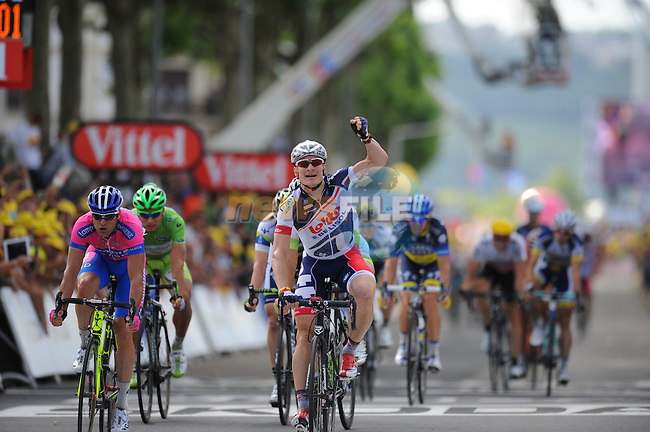 Andre Greipel (GER) Lotto-Belisol wins Stage 4 running from Abbeville to Rouen during the 99th edition of the Tour de France, 4th July 2012 (Photo by Tim de Waele/ASO/NEWSFILE)