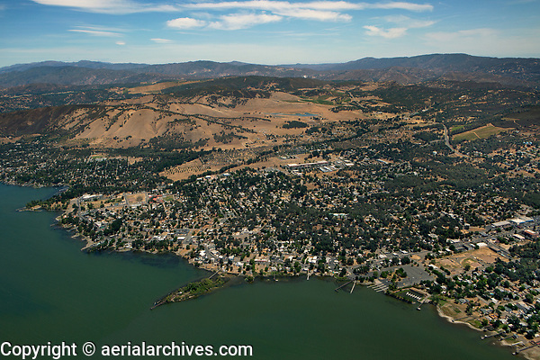 aerial photograph of Clearlake, Lake County, California