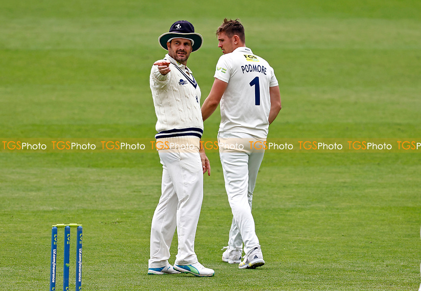 Due to a Covid depleted squad, Kent batting coach Mike Yardy steps in to field during Kent CCC vs Sussex CCC, LV Insurance County Championship Group 3 Cricket at The Spitfire Ground on 11th July 2021